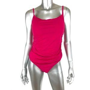 Anne Cole Womens One Piece Swim Bathing Sz 16 Pink